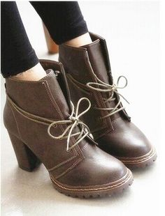On Trend Laceup Boot - Brown