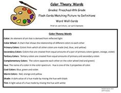 Color Theory Words