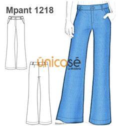 Pantalón estilo Oxford - Tela plana