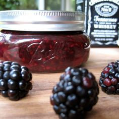 Vanilla Bourbon Blackberry Jam- mmm I love all three of these things! (maybe sub crown royal?)