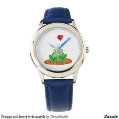 Froggy and heart wristwatch