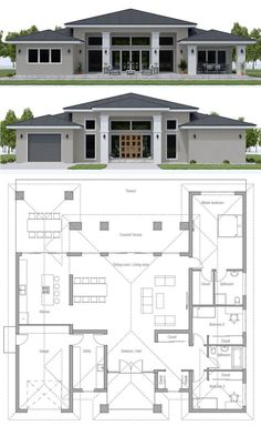 arquitectonico House Plan House Plan, Home Plan, Floor Plan, Architecture, House Layout Plans, Family House Plans, Dream House Plans, House Layouts, House Floor Plans, House Floor Plan Design, Sims 4 Houses Layout, Single Floor House Design, Sims 4 House Design
