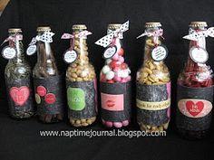 Nap Time Journal: Repurpose Cream Soda Bottles into a fun Valentines gift