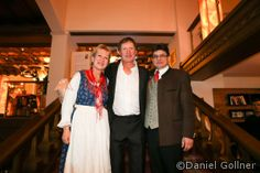 Franz Klammer 60 igster Geburtstag im Pulverer - Franz Klammer mit Siegrun und August Pulverer #fk60