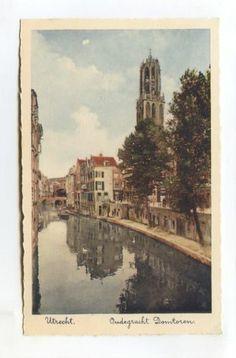 UTRECHT - Oudegracht Domtoren - canal - old postcard