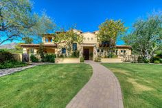 This Spanish Casa was Designed around a stunning courtyard on 2 acres in Paradise Valley wants $2.9M.