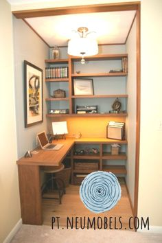Brilliant Ideas To Maximize a Small Space At Your Home What's Decoration? Decoration may be the art of decorating … Basement Home Office, Tiny Home Office, Small Office Design, Small Space Office, Small Home Offices, Small Space Design, Office Interior Design, Home Office Decor, Office Interiors