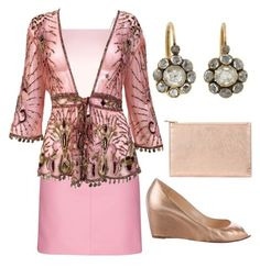 Apple Shape Occasion Wear by mimi-briji on Polyvore featuring Roberto Cavalli, Topshop, Glamorous, Christian Louboutin and Aspinal of London