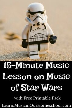 15-Minute Music Lesson on Star Wars with Free Printable Pack - Music in Our Homeschool Music Lessons For Kids, Music Lesson Plans, Music For Kids, Piano Lessons, Star Wars Music, Music Activities, Movement Activities, Music Education, Physical Education