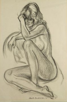 CHARLES BANKS WILSON (1918-2013) CHARCOAL ON PAPER