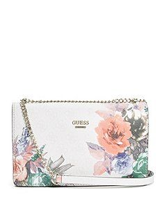 $88.00. Linea Floral-Print Cross-Body Bag from GUESS