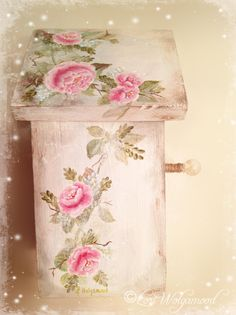 Hand Painted Shabby Chic Pink Red Pink Roses and Ribbon Painted on Bird House https://www.etsy.com/listing/130197593/hand-painted-shabby-chic-pink-red-pink