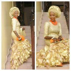 Gold Nigerian wedding bride inspiration