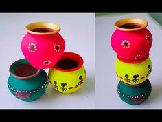 Cd Crafts, Craft Stick Crafts, Crafts For Kids, Arts And Crafts, Paper Crafts, Diy Paper, Diya Decoration Ideas, Diy Diwali Decorations, Festival Decorations