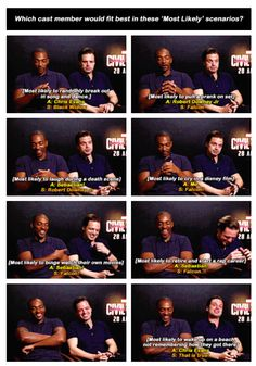 MCU cast members Anthony Mackie and Sebastian Stan give their Most Likelys...