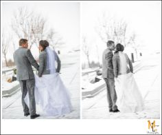 Draper Temple Wedding Photography | Bride & Groom winter wedding portraits | Morgan Leigh Photography