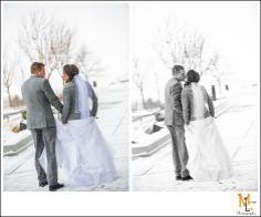 Draper Temple Wedding Photography | Bride & Groom winter wedding portraits | Morgan Leigh Photography