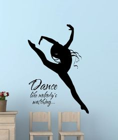 Name WALL DECAL GIRL Ballerina Dancing Nursery Ballet Dance Vinyl - Custom vinyl wall decals dance