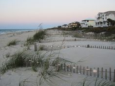 Beach decorating    St. George Island, Florida - at sunrise