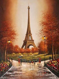 "8 1//2/"" x 5 1//2/"" Kinkade Dealer Postcard Paris City of Love T Eiffel Tower"