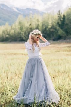 Rustic Wedding Dresses with Sleeves,Dusty Blue Wedding Dress Rustic Princess Wedding Dresses with Sleeves,Dusty Blue Wedding Dress Outdoor, modest wedding dresses Tulle Wedding Skirt, Outdoor Wedding Dress, Rustic Wedding Dresses, Princess Wedding Dresses, Modest Wedding Dresses, Wedding Party Dresses, Tulle Dress, Lace Dress, Wedding Dress Blue