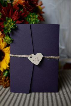 Ideas wedding invitations rustic nature kraft paper for 2019 Purple Wedding Invitations, Rustic Invitations, Wedding Stationary, Wedding Invitation Cards, Wedding Cards, The Invitation, Party Invitations, Invite, Wedding Themes
