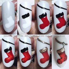 Nail Art Noel, Xmas Nail Art, Christmas Nail Art Designs, Holiday Nail Art, Christmas Gel Nails, Nailart, Snowman Nails, Nail Drawing, Cute Nail Art Designs
