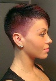 tightly tapered pixie style