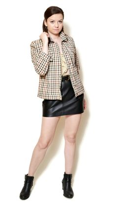 plaid jacket vintage  US$99.95