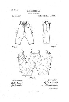 1884 combinations Patent US294507 - SOPHIE ROSENTHAL - Google Patents