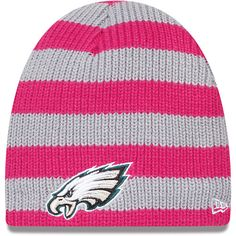 Women's New Era Philadelphia Eagles Breast Cancer Awareness Knit Hat
