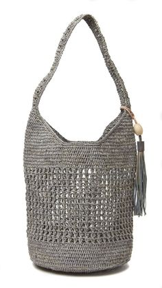 OLD TREND Stellar Stud Leather Tote - in several colors Mar Y Sol - Aspen Raffia Bucket Bag - Dove Gray Source by cansindei Bags trend Crochet Market Bag, Crochet Tote, Crochet Handbags, Studded Leather, Leather Clutch, Leather Bags, Leather Totes, Leather Backpacks, Leather Purses