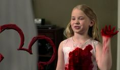 Hey, I'm Lilith and you're watching the Disney Channel! This little girl is actually on a show on Disney now. She still gives me the creeps.