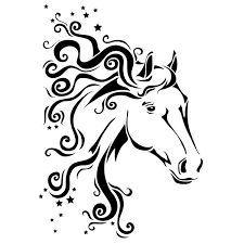 Horse mane with stars Horse Silhouette, Silhouette Images, Silhouette Portrait, Silhouette Design, Horse Stencil, Stencil Art, Stencils, Lampe Decoration, Wood Burning Patterns