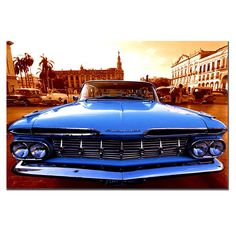 This ready to hang, gallery-wrapped art piece features a 1959 Chevy El Camino. Masters Fine Art is a company that travels around the world to bring the best in fine art from outstanding artists from d