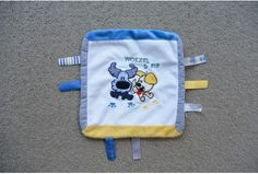 Woezel en Pip knuffeldoek blauw grijs geel 2012