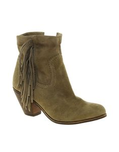 Sam Edelman Louie Suede Tassled Ankle Boots