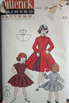 Vintage 1950s Butterick 7096 Sewing Pattern by desertcottage