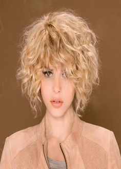 2 - Top Hairstyles for Short Wavy Hair, Wavy Hairstyles for Short Medium Long Hair – Best 46 Haircuts for 2017 – Page 2 – Hairstyles Pertaining to Exclusive Hairstyles for Short Wavy Hair Short Curly Haircuts, Curly Hair Cuts, Short Hairstyles For Women, Short Hair Cuts, Curly Hair Styles, Curly Short, Hairstyles 2018, Short Blonde Curly Hair, Perms For Short Hair