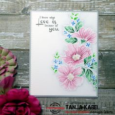 STAMPlorations: Blossom Sprays #2, emboss , ZIG Clean Color Real Brush Pens, flower sketch
