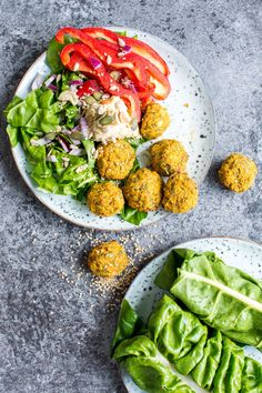 {Video!} This baked sweet potato falafel, which is vegan friendly, gluten free AND oil free, won't leave you disappointed up against your regular deep fried falafel cravings!