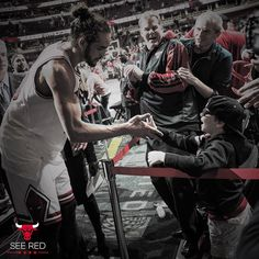"""32 minutes, 19 rebounds, 5 assists, 1 lifelong fan. #SeeRed"""
