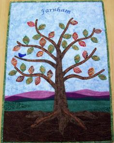 Family Tree Quilted Wall Hanging.
