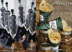 Glitterati Style File: My Fair Scotland | WedLuxe Magazine. This is not the cone that you want - but similar idea!