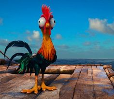 This chicken from the new Disney movie Moana is pretty goofy looking m, but completely pretty to look at at the same time!