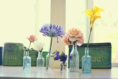 Decorate with Antique Glass Bottles