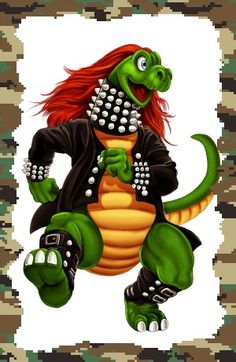 Heavysaurios Heavy Metal, Bowser, Draw, Fictional Characters, Pastel, Templates, New Age, Dinosaurs, Legends