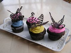 Everything Old: How To: Make Chocolate Butterfly Cake Decorations