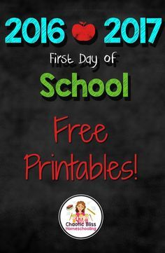 Download these free first day of school signs to celebrate your first day back to school! Download them at :