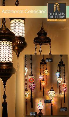Mosaic Lamps | Ottoman Lamps | Turkish Lighting Manufacturer|HEC - 50 - chain drops